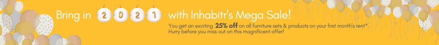 Bring n 2021 with Inhabitr's mega sale - get an exciting 25% off