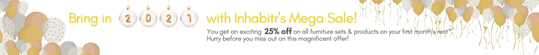 Bring n 2021 with Inhabitr's mega sale